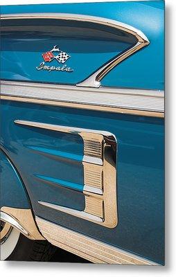 Metal Print featuring the photograph 58 Impala Detail by Chuck De La Rosa