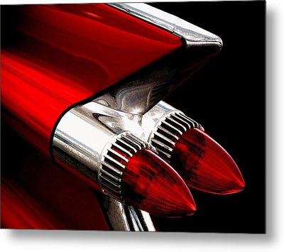 '59 Caddy Tailfin Metal Print