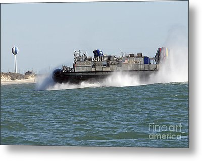 A Landing Craft Air Cushion Prepares Metal Print by Stocktrek Images