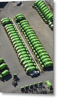 Garbage Truck Fleet Metal Print by Don Mason