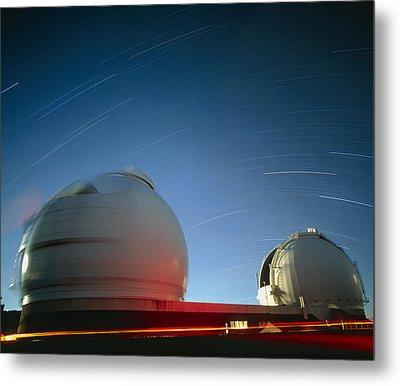 Keck I And II Observatories On Mauna Kea, Hawaii Metal Print by David Nunuk