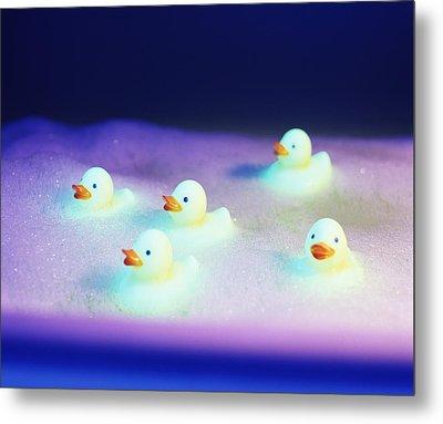 Rubber Ducks Metal Print by Lawrence Lawry