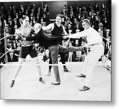 Silent Film Still: Boxing Metal Print by Granger