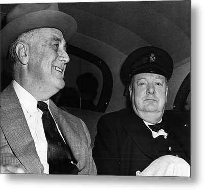 World War II. Us President Franklin Metal Print by Everett