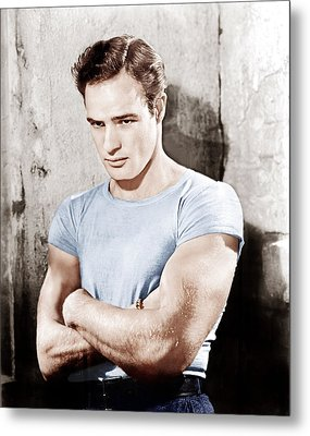 A Streetcar Named Desire, Marlon Metal Print by Everett