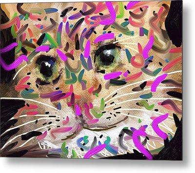 Cat Metal Print by Bogdan Floridana Oana