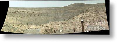 Panoramic View Of Mars Metal Print by Stocktrek Images