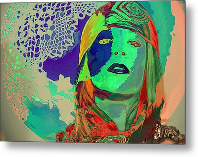 70's World Metal Print by Jan Amiss Photography