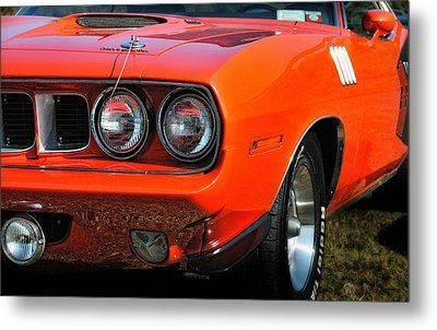 71 Plymouth Cuda Metal Print by Thomas Schoeller