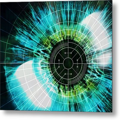 Biometric Eye Scan Metal Print