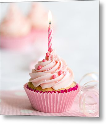 Birthday Cupcake Metal Print by Ruth Black
