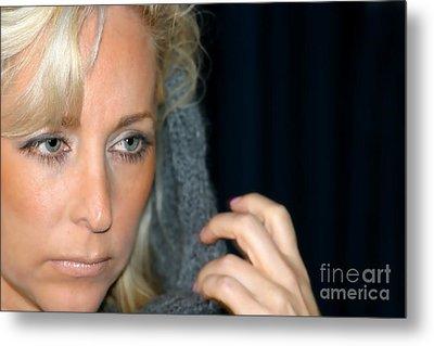 Blond Woman Metal Print by Henrik Lehnerer