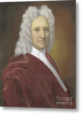 Edmond Halley, English Polymath Metal Print by Science Source