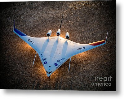 X48b Blended Wing Body Metal Print by Nasa