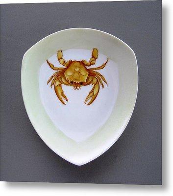 866 2 Part Of Crab Set 1 Metal Print by Wilma Manhardt