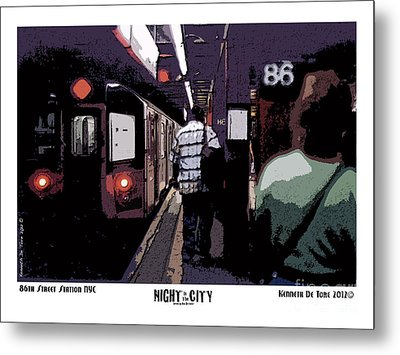 86th Street Metal Print by Kenneth De Tore