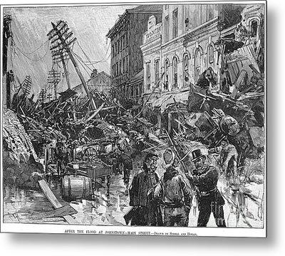 Johnstown Flood, 1889 Metal Print by Granger