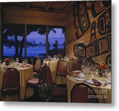 Restaurant Metal Print by Robert Pisano
