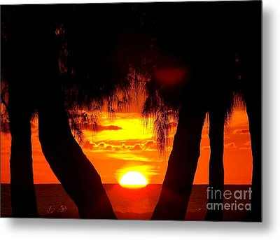 Sunset Metal Print by Sylvie Leandre