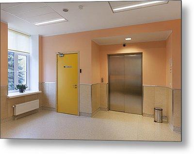 The Nursing Centre A Building In P�rnu Metal Print by Jaak Nilson