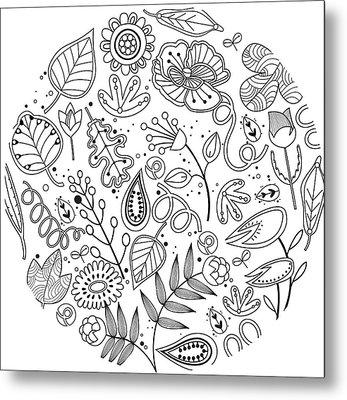 Various Plants Patterns Metal Print