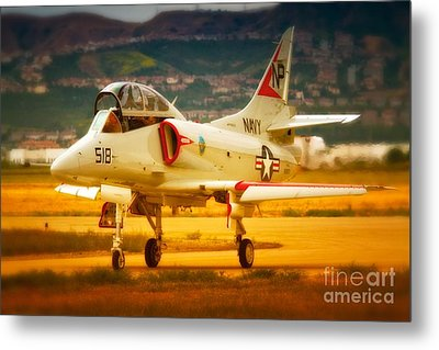 A-4 Skyhawk Up For A Hunt Metal Print by Gus McCrea