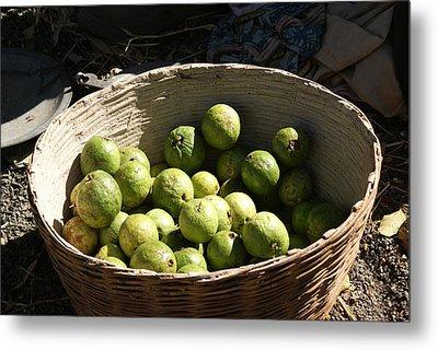 A Basket Full Of Guavas Just Outside Bhopal Metal Print by Ashish Agarwal