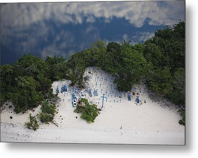 A Beach Cemetery Beside The Rio Negro Metal Print by Bobby Haas