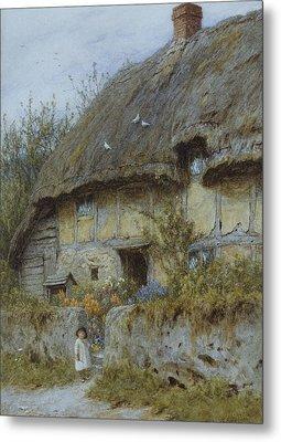 A Berkshire Cottage  Metal Print by Helen Allingham
