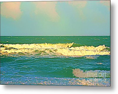 Metal Print featuring the photograph A Big Breaker Wave  by Joan McArthur