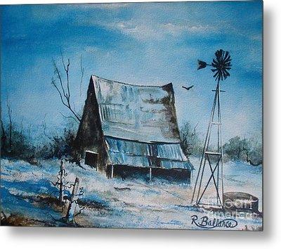 A Blue Winter In Texas Metal Print by Robert Ballance