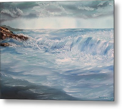 A Break In Storm Metal Print