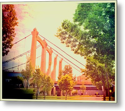 A Bridge In Minneapolis  Metal Print by Susan Stone