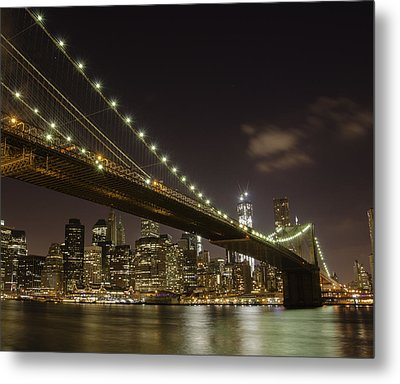 A Brooklyn View Metal Print by Alex Ching