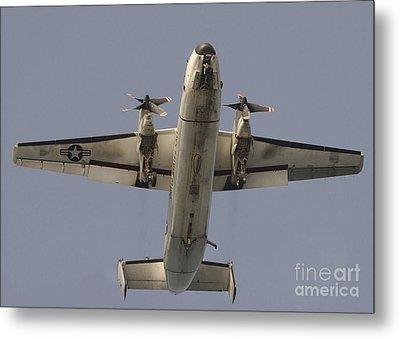 A C-2 Greyhound In Flight Metal Print by Stocktrek Images