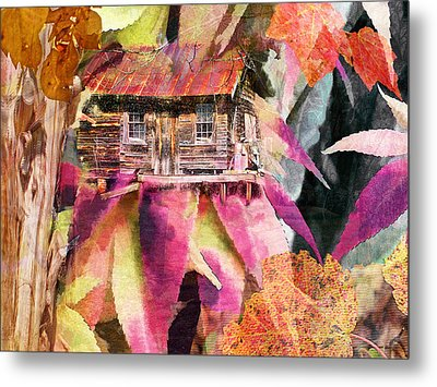 A Cabin In The Woods - A Novel Metal Print by Larry Bishop