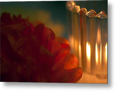 A Candle Glows Metal Print