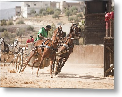 A Chariot Race In The Hippodrome Metal Print by Taylor S. Kennedy