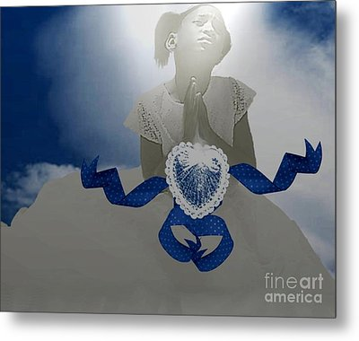 A Child's Prayer Metal Print by Belinda Threeths