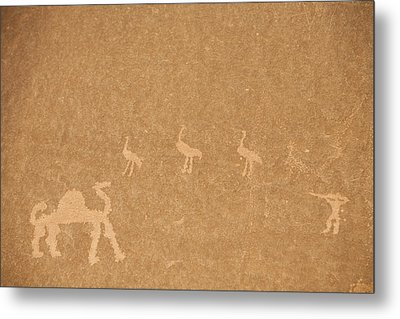 A Close View Of Ancient Petroglyphs Metal Print by Taylor S. Kennedy
