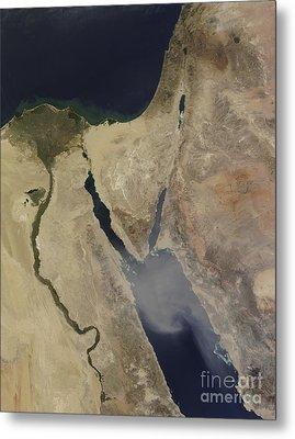 A Cloud Of Tan Dust From Saudi Arabia Metal Print by Stocktrek Images