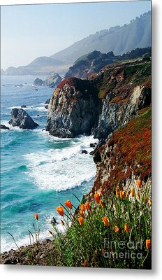 A Coastal High Metal Print