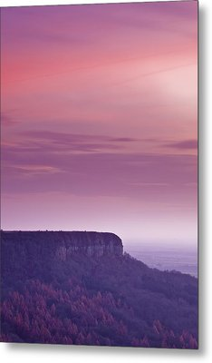 A Colourful Sunset Over Sutton Bank Metal Print by Julian Elliott Ethereal Light