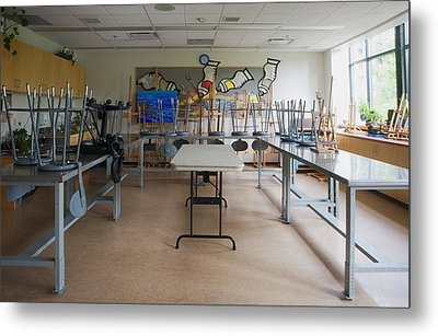 A Community Centre Art Room And Studio Metal Print by Marlene Ford