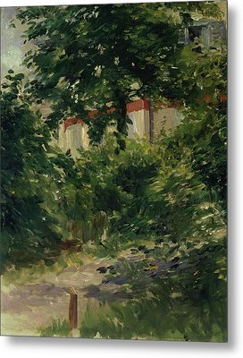 A Corner Of The Garden In Rueil Metal Print by Edouard Manet