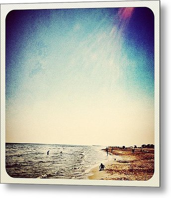 A Day At The #beach 2 Months Ago Metal Print by Wilbert Claessens
