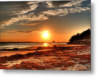 A Day Ends Over Charleston Metal Print by Andrew Crispi