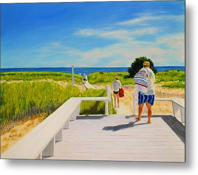 A Day For The Beach Metal Print
