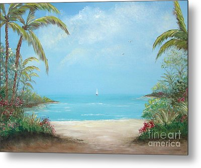 A Day In The Tropics Metal Print by Leea Baltes