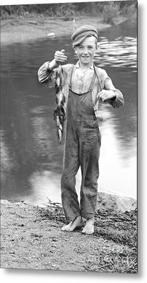 A Days Catch 1900 Metal Print